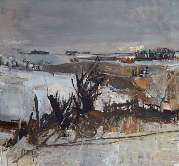 Fields Under Snow, 1958. Photograph: Estate of Joan Eardley. All Rights Reserved, DACS 2016