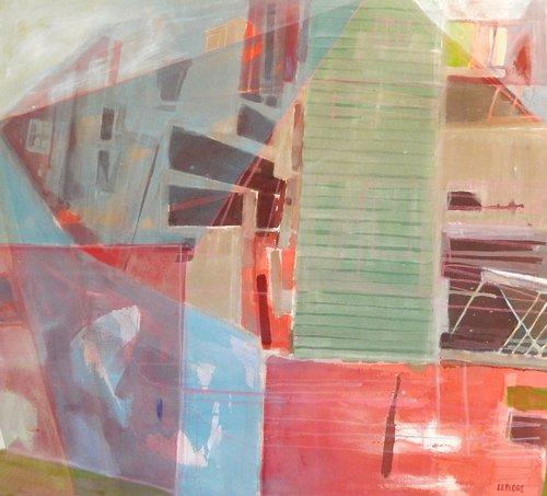 "Bay of Fundy. 34"" x 38"" Acrylic"