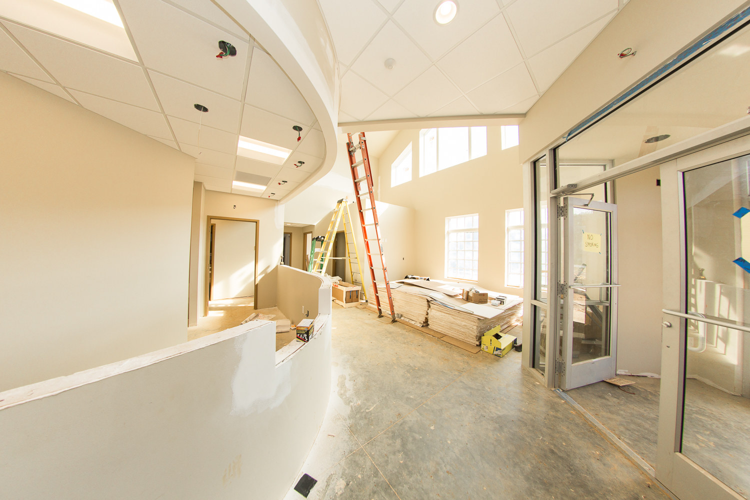 Frederick County's newest veterinary hospital's reception and waiting area.