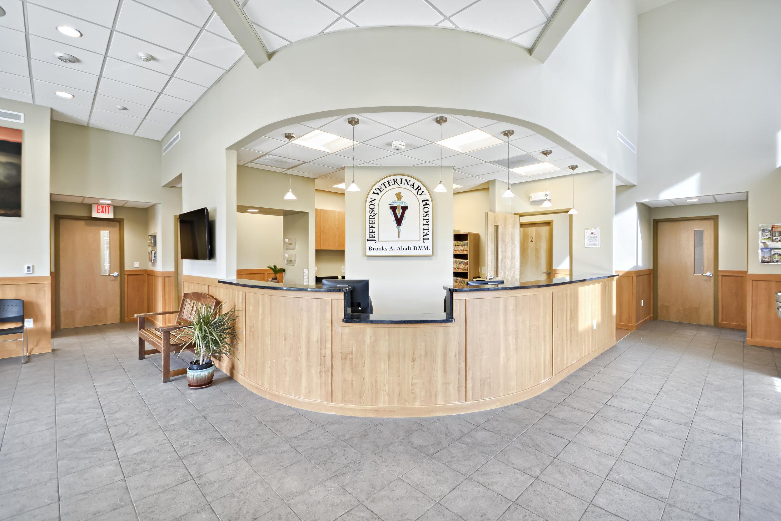 Reception at Jefferson Veterinary Hospital