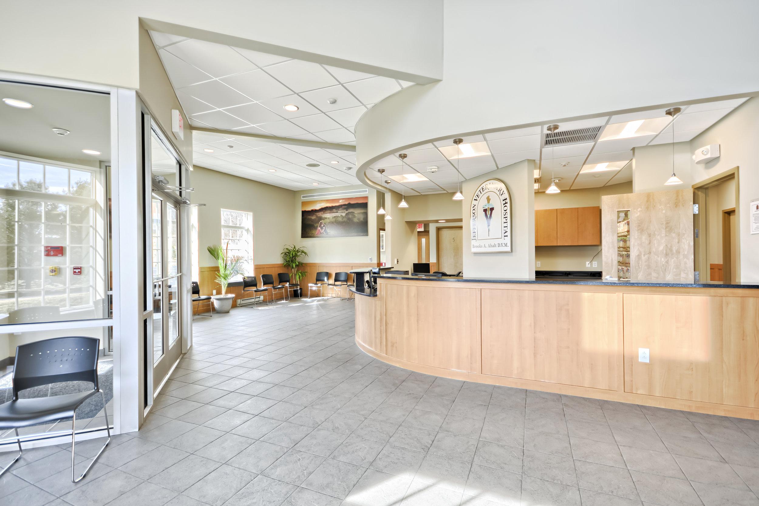 veterinarian frederick md reception area