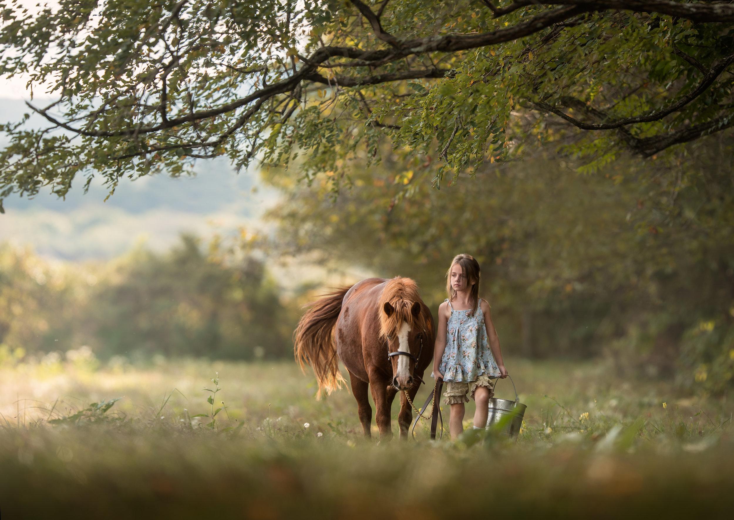 best_equine_photographer_middleburg_VA_equestrian_pony_girl_leading_field.jpg