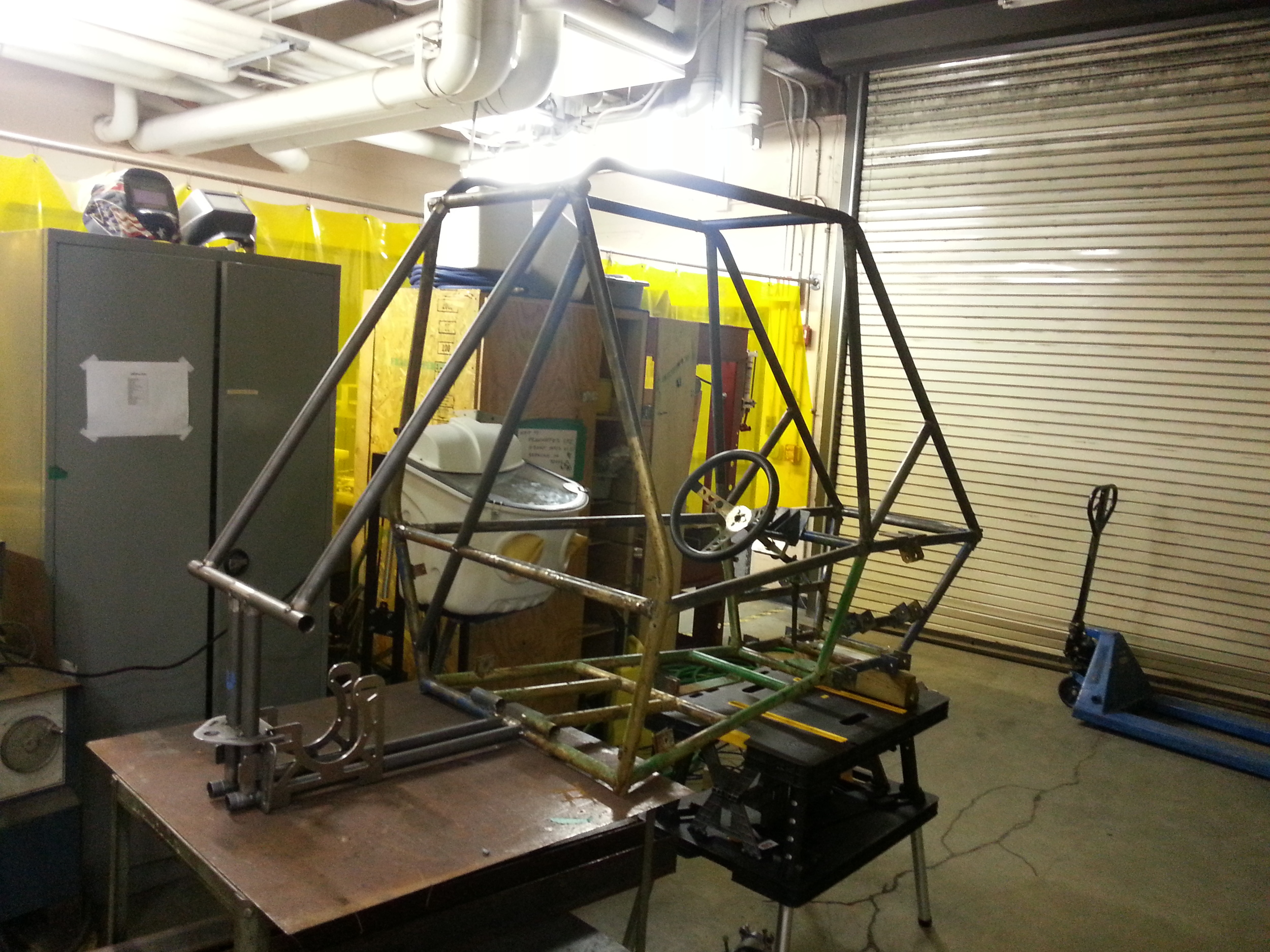 The frame with new rear end