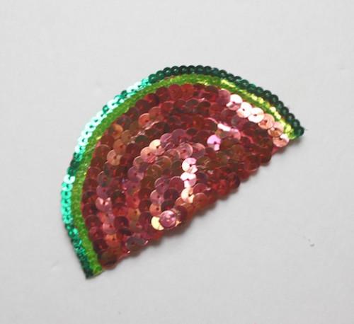 DIY Watermelon Sequined Clip