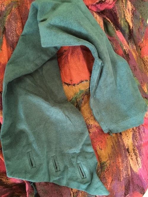 Vintage Teal Sash Dress - 80s
