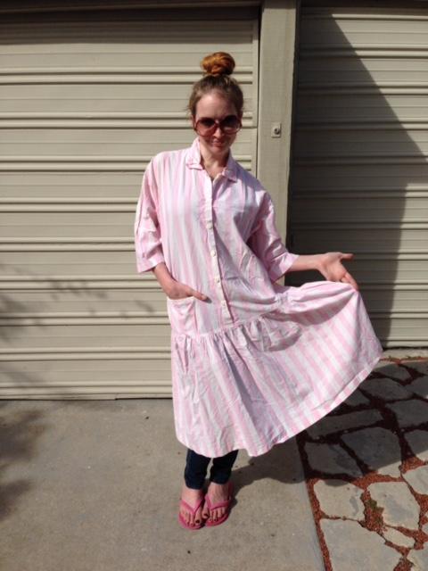 New Dress A Day - 90s Striped Maternity Dress