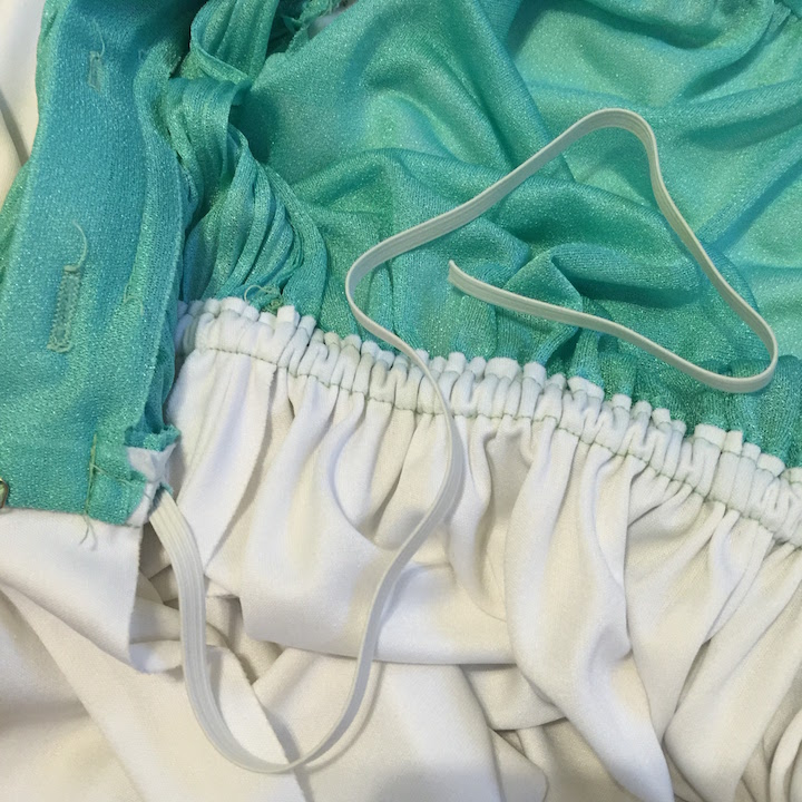 Vintage mint & white dress 9