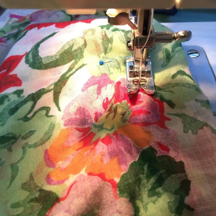 Vintage Ruffle Floral Dress 8