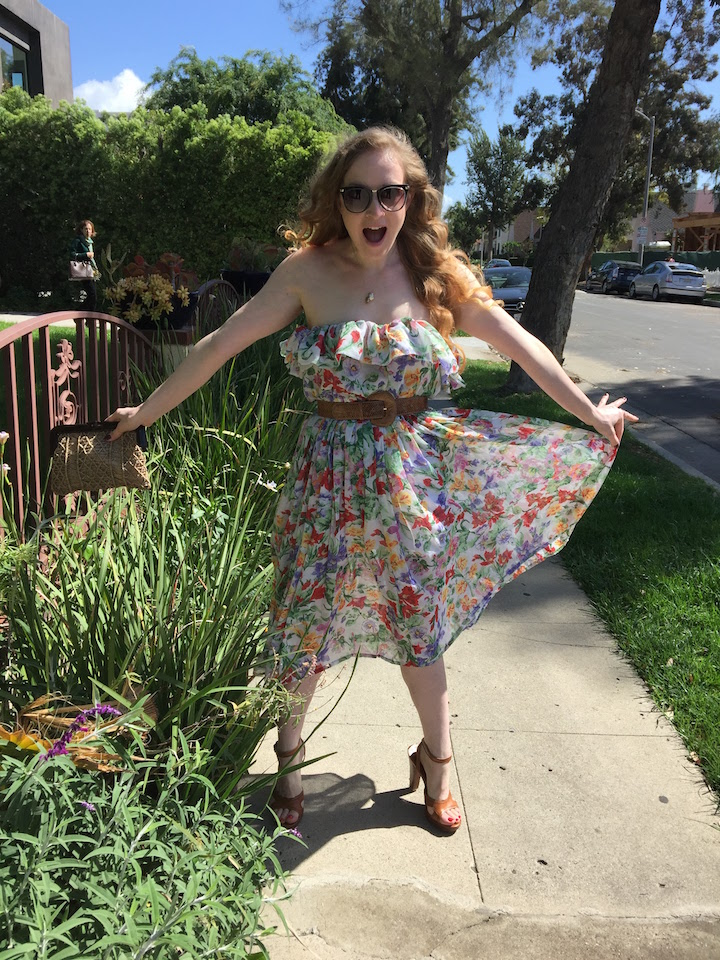 Vintage Ruffle Floral Dress 10