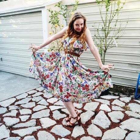 Vintage Floral Ruffle Dress - 17