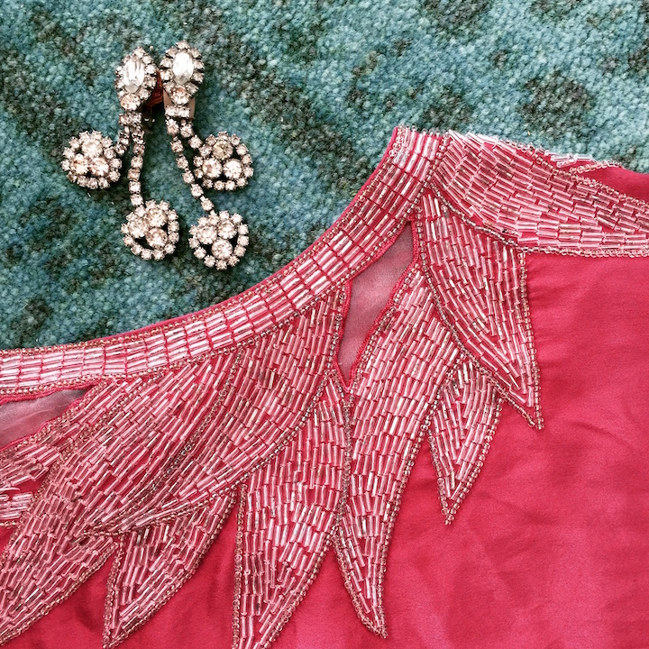 Art Deco Beaded Top Dyed