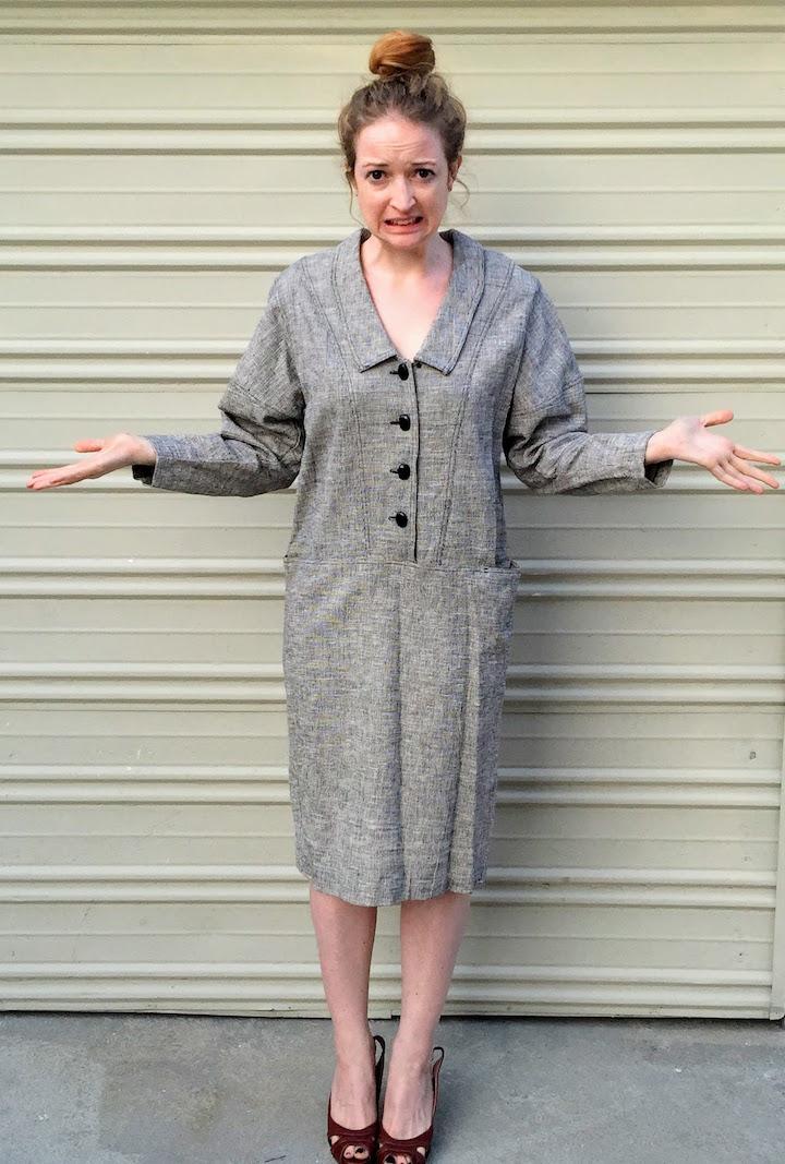 Vintage Tweed Dress - 1