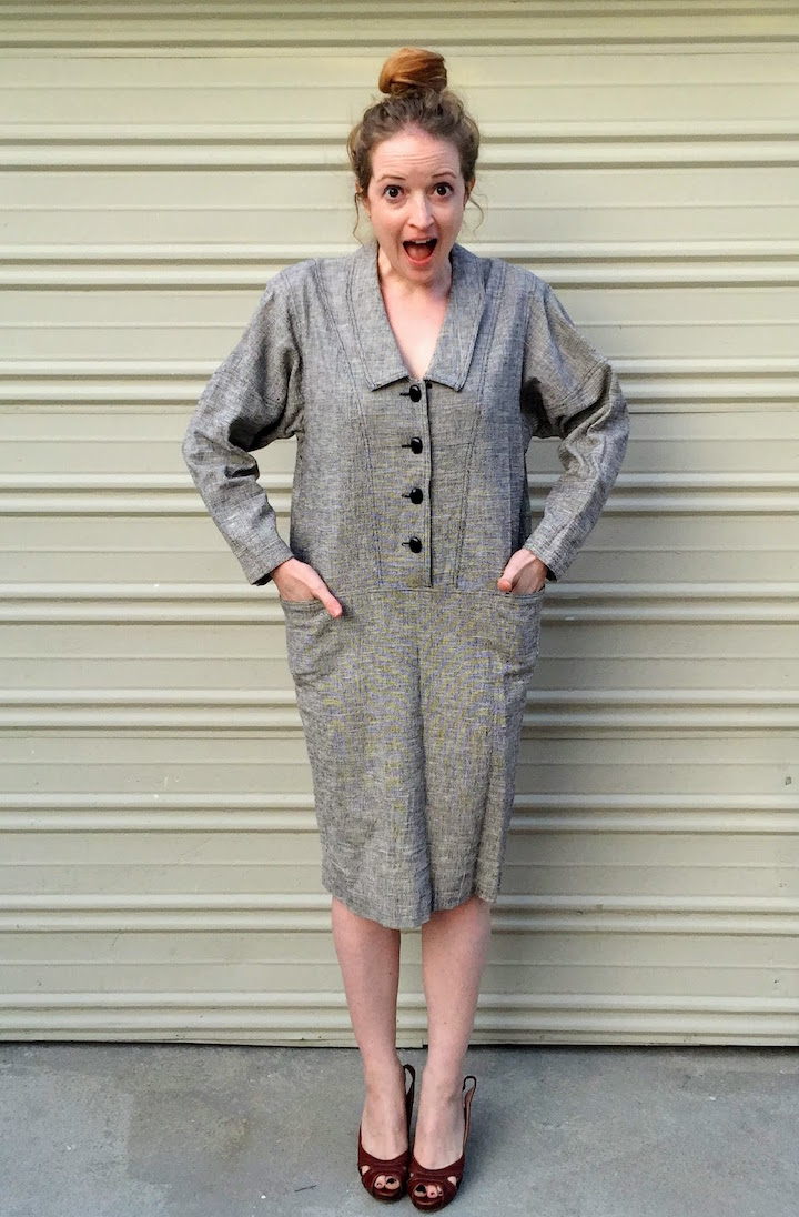 Vintage Tweed Dress - 2