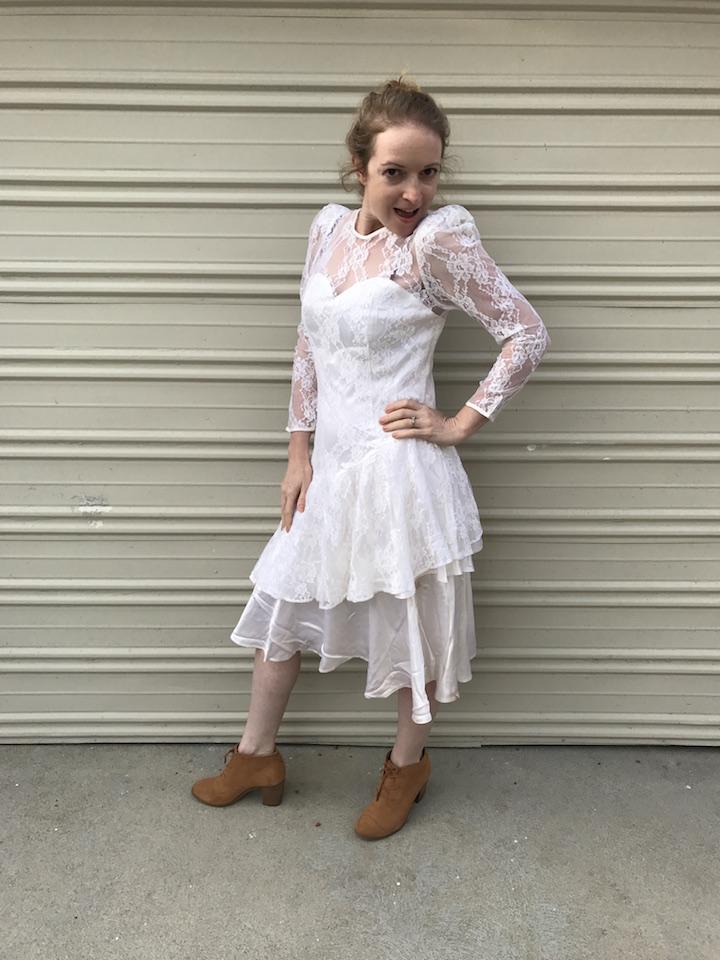 NDAD - Day 29 - Vintage Wedding Dress