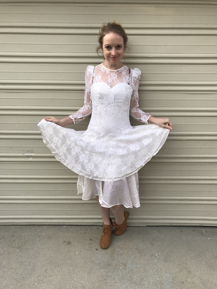 NDAD - Day 29 - Vintage Wedding Dress 2
