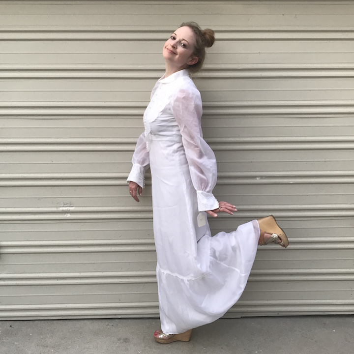 NDAD - Day 28 - Vintage Wedding Dress 4