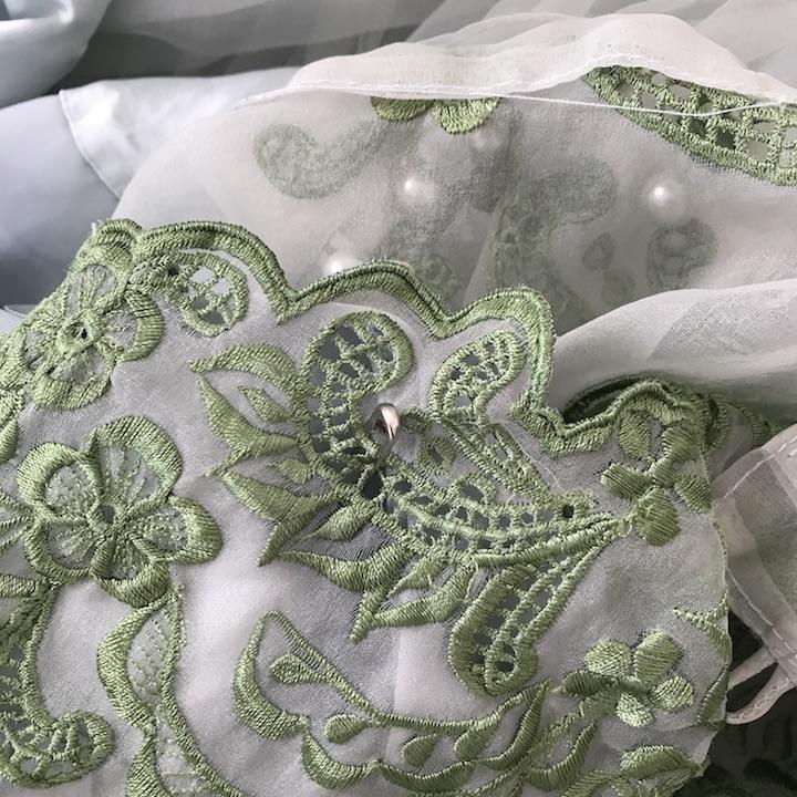 NDAD - Day 27 - Vintage Wedding Dress Pinned Layers