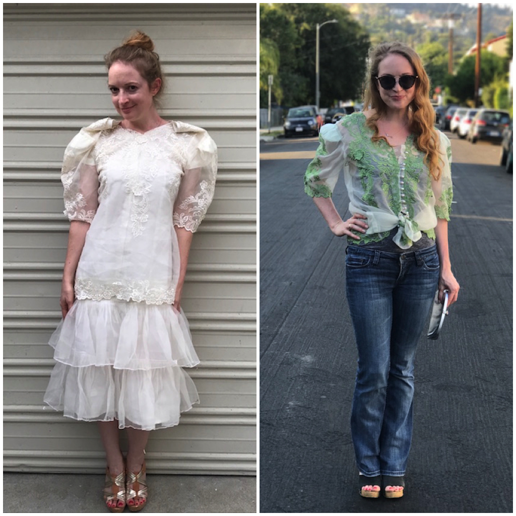 NDAD - Day 27 - Before & After Upcycled Wedding Dress