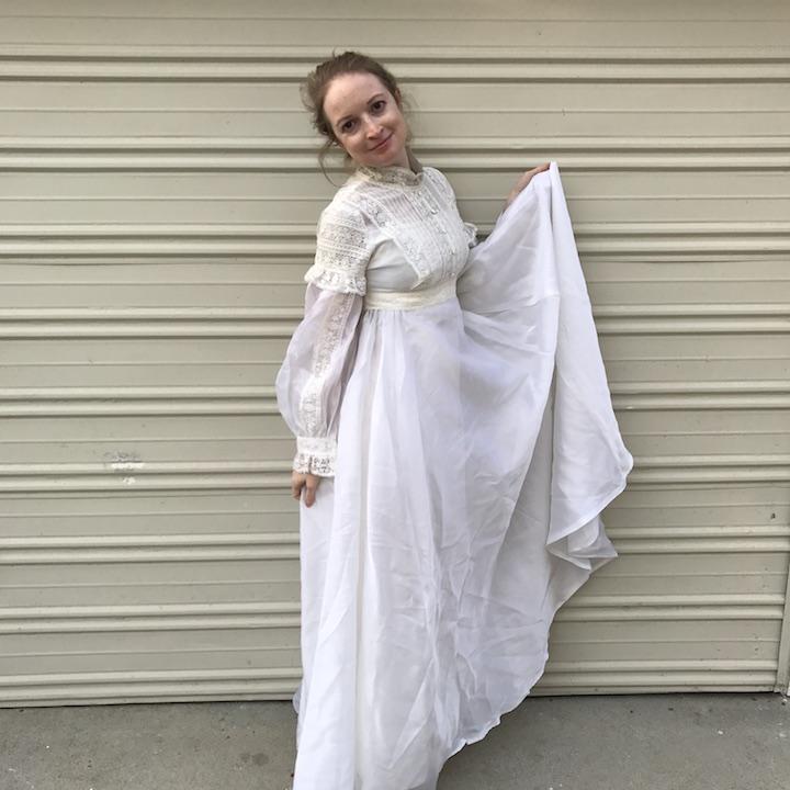 NDAD - Day 26 - Vintage Wedding Dress