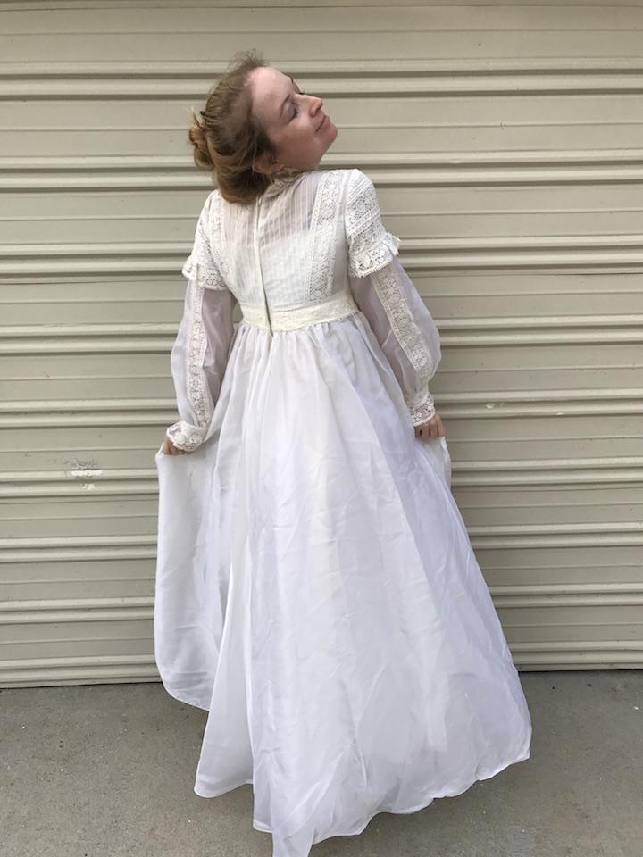 NDAD - Day 26 - Vintage Wedding Dress 4