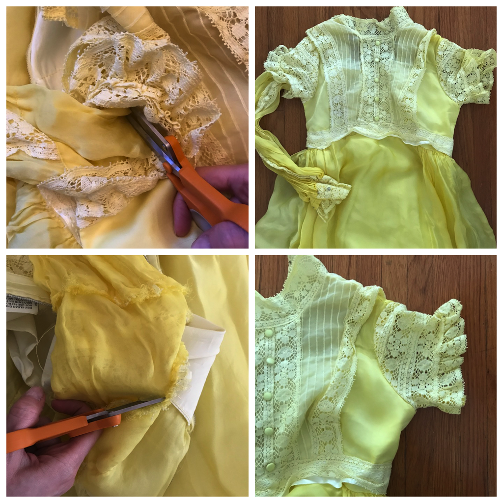 NDAD - Day 26 - Vintage Wedding Dress DIY