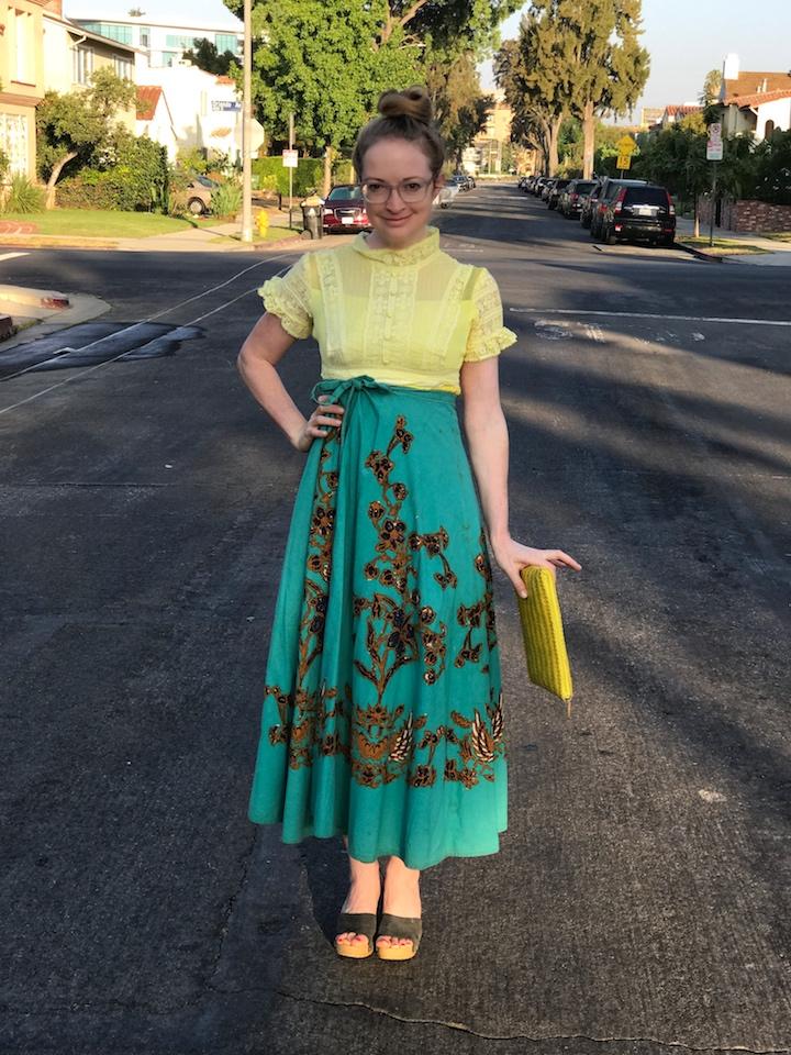 NDAD - Day 26 - Dyed Vintage Wedding Dress