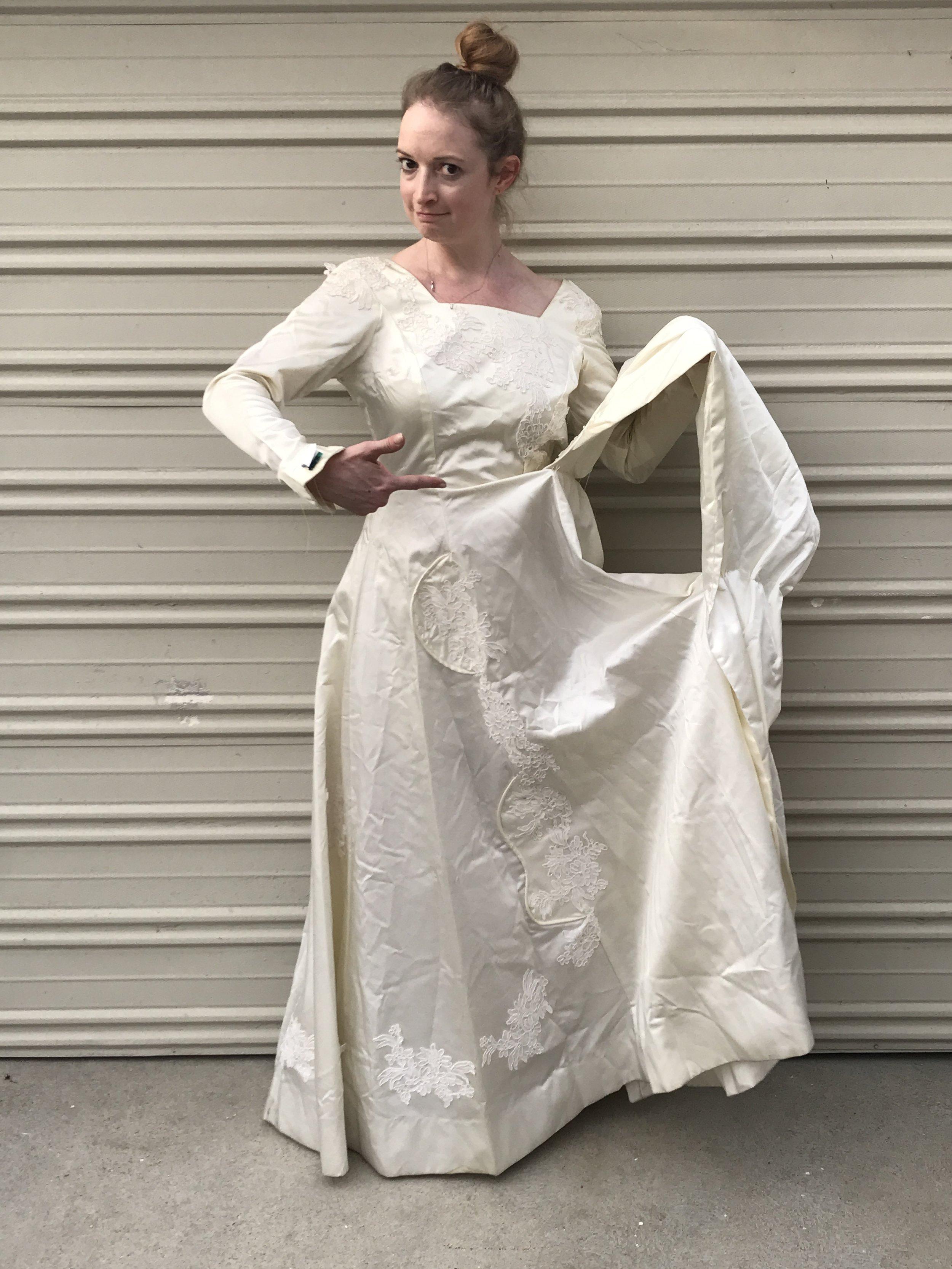 NDAD - Day 25 - Vintage Wedding Dress