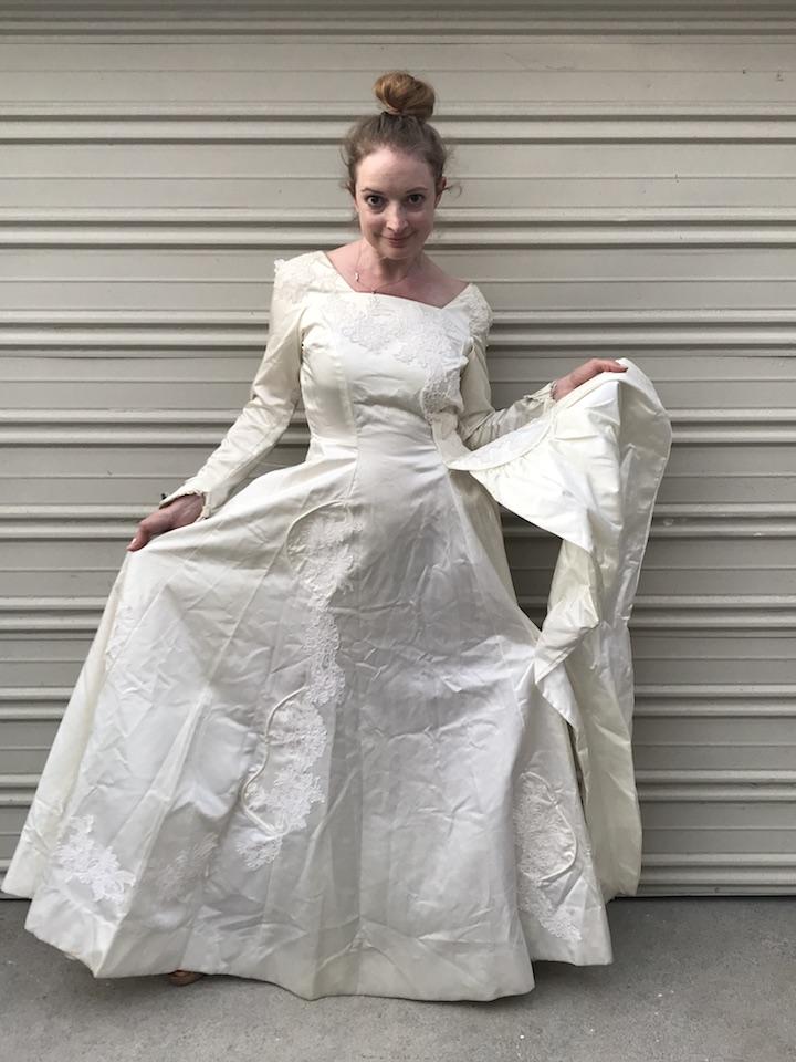 NDAD - Day 25 - Vintage Wedding Dress 3