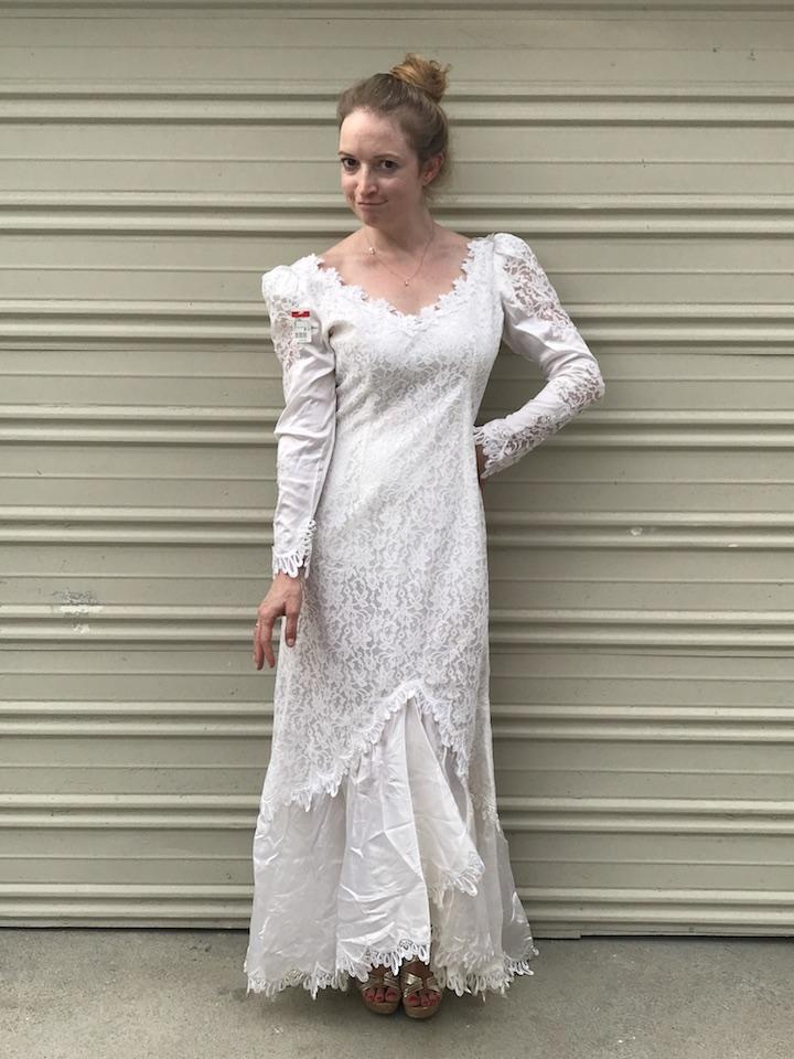 NDAD - Day 24 - Vintage Wedding Dress