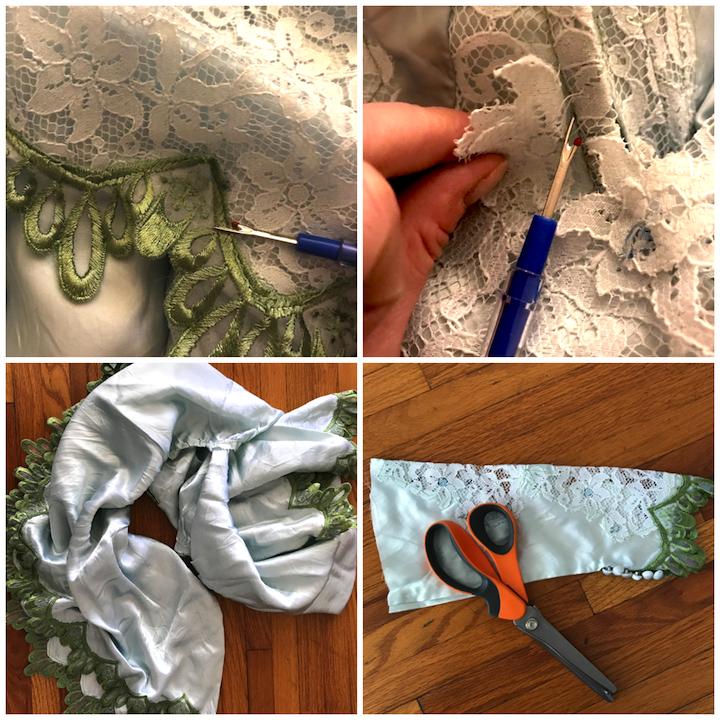 NDAD - Day 24 - Dyed Vintage Upcycled Wedding Dress DIY