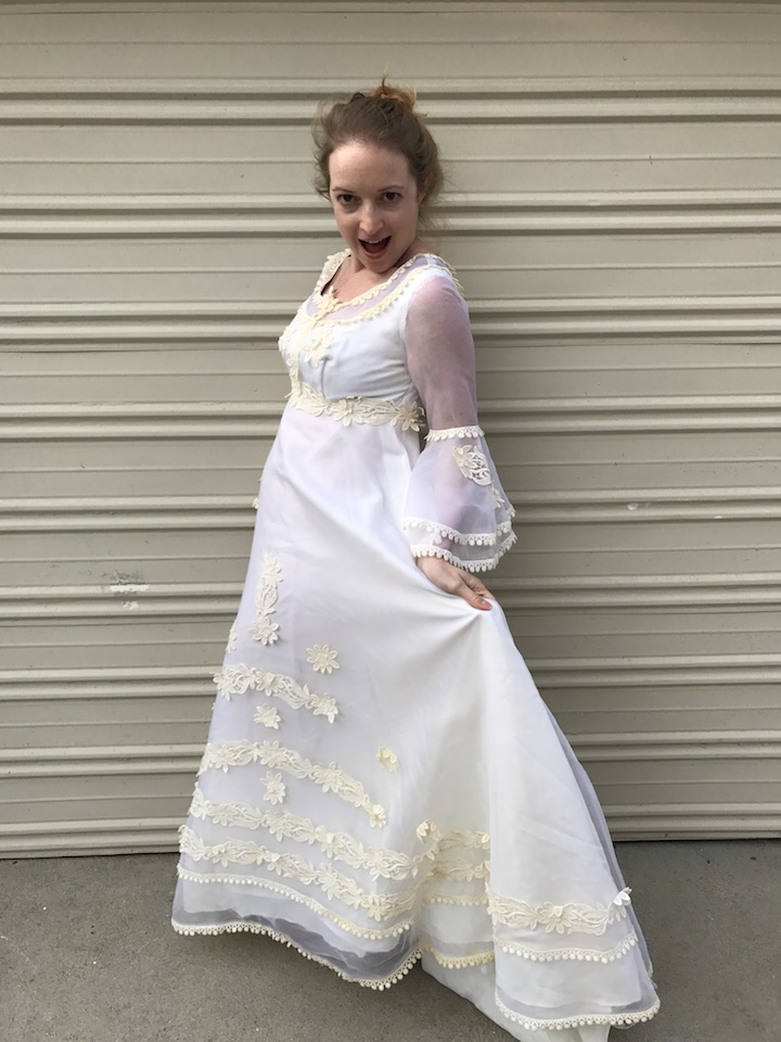 NDAD - Day 22 - Vintage Wedding Dress