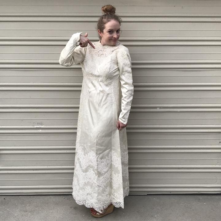 NDAD - Day 20 - Vintage Wedding Dress 4