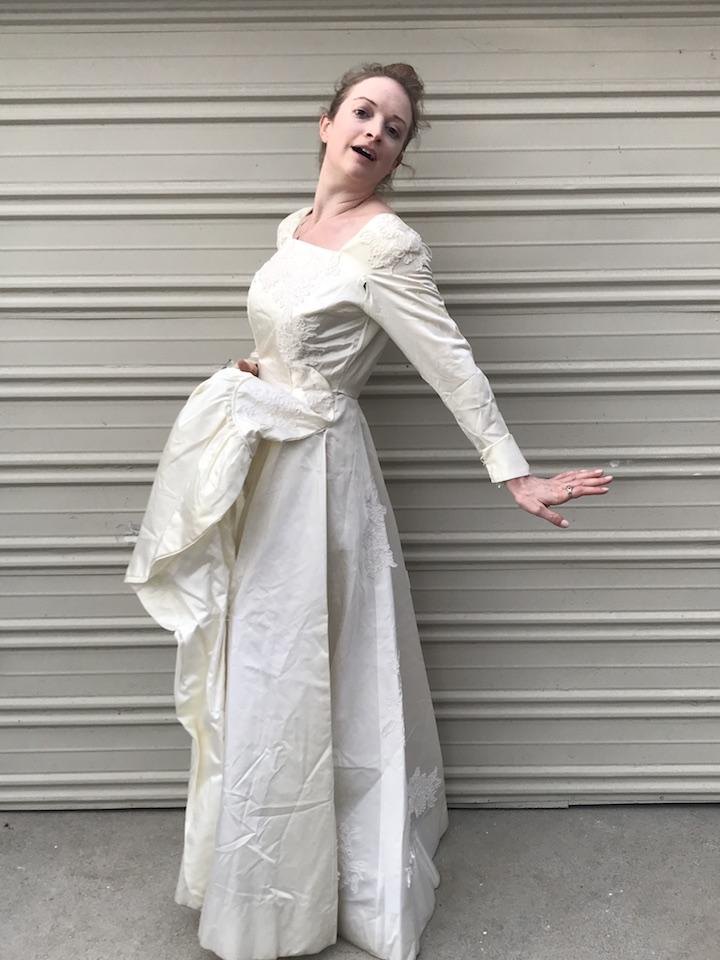 NDAD - Day 17 - Vintage Wedding Dress