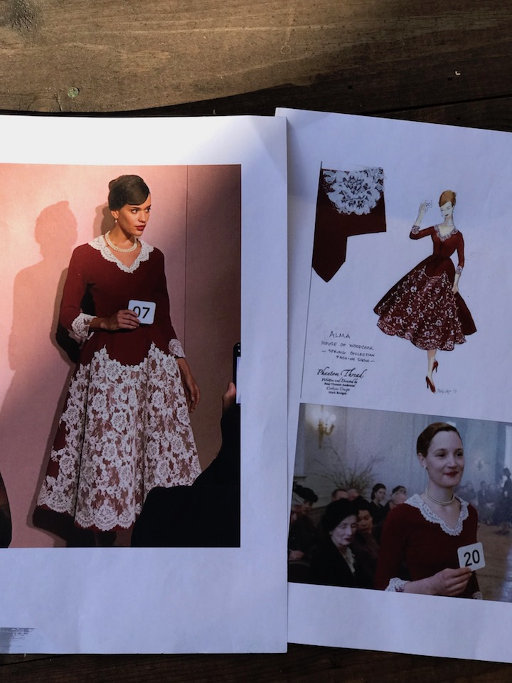 Phantom Thread: Red Lace Dress Costume