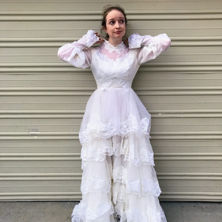 Ruffled Wedding Dress - Before 3