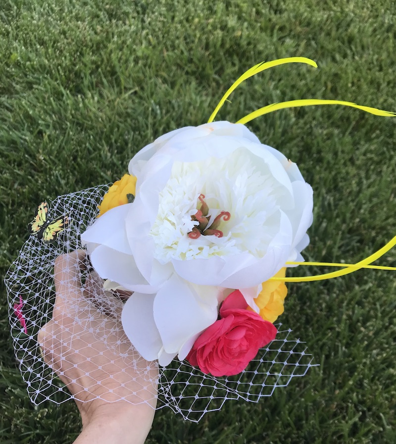 Floral DIY Fascinator