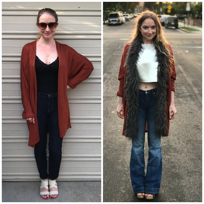 Fur Sweater - Side by Side