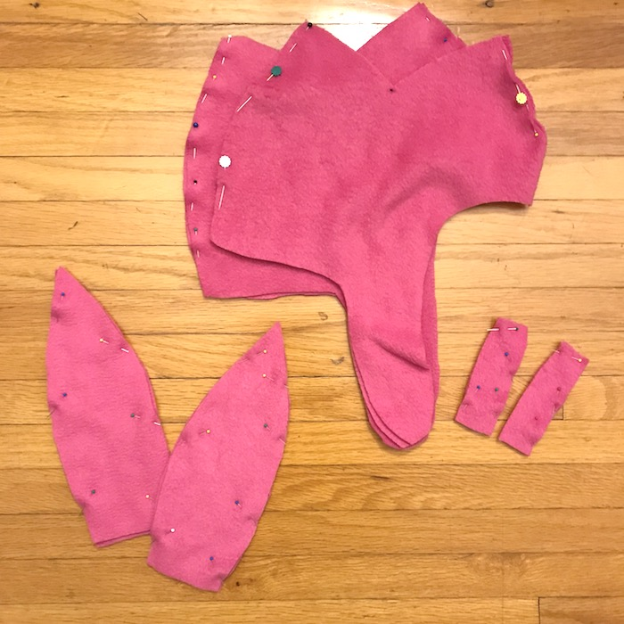 Louise Belcher Costume - Pinned patterns