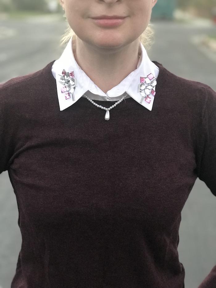 Riverdale Veronica Embellished Collar DIY