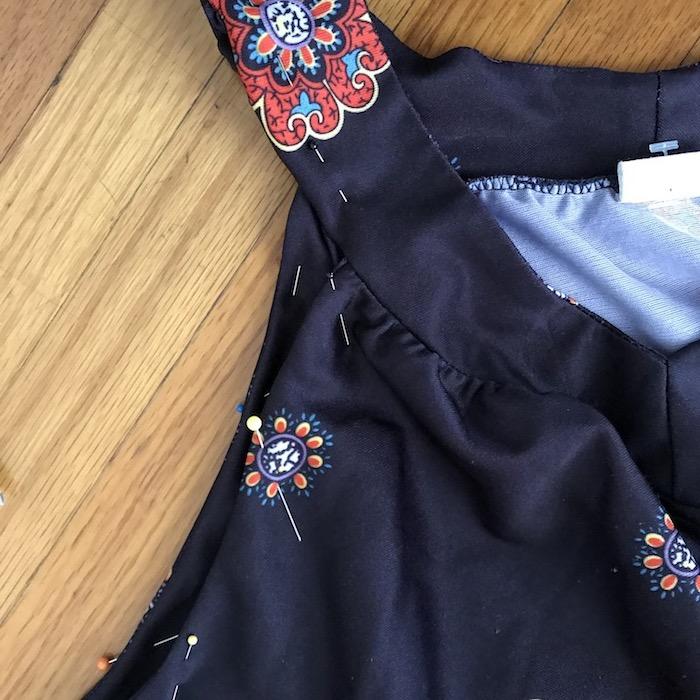 Vintage Red & Black Muumuu Pinned Sleeves