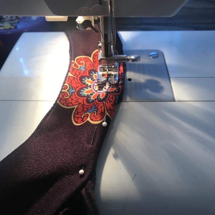 Vintage Red & Black Muumuu Sewing