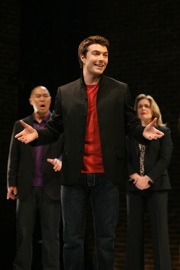 Hoon Lee, Noah Bean, and Kathryn Layng. Photo by Michal Daniel for the Public Theatre, 2007