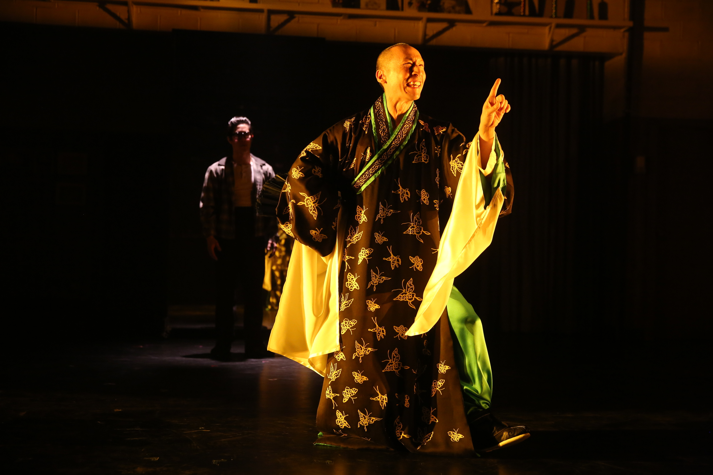 Cole Horibe and Francis Jue. Photo by Joan Marcus for Signature Theatre, 2014