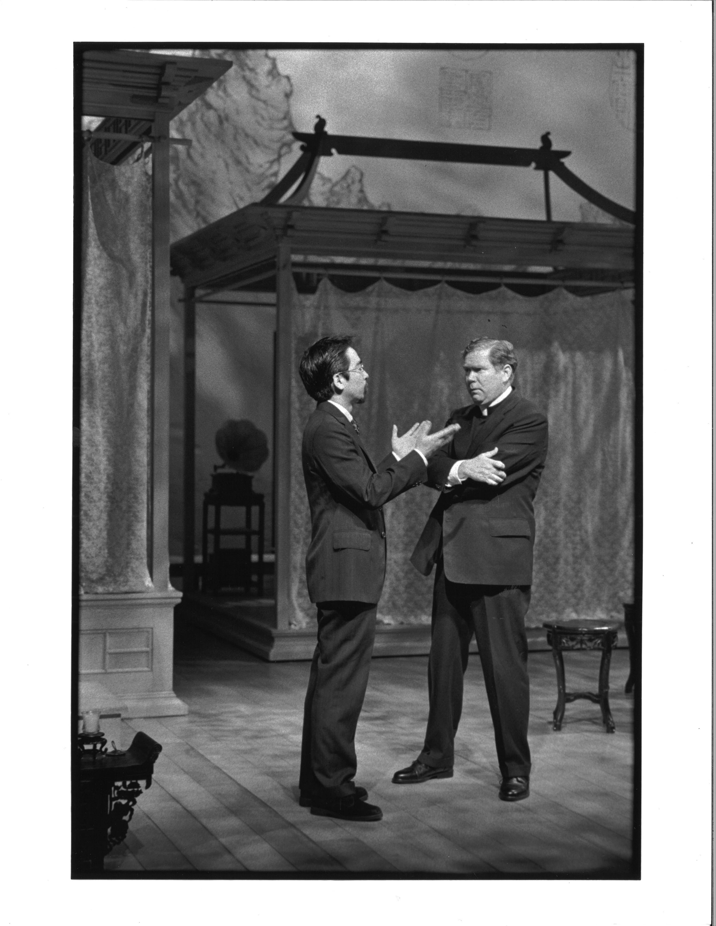 Stan Egi and John Christopher Jones Photo by Michal Daniels, from The Public Theater production in 1996.