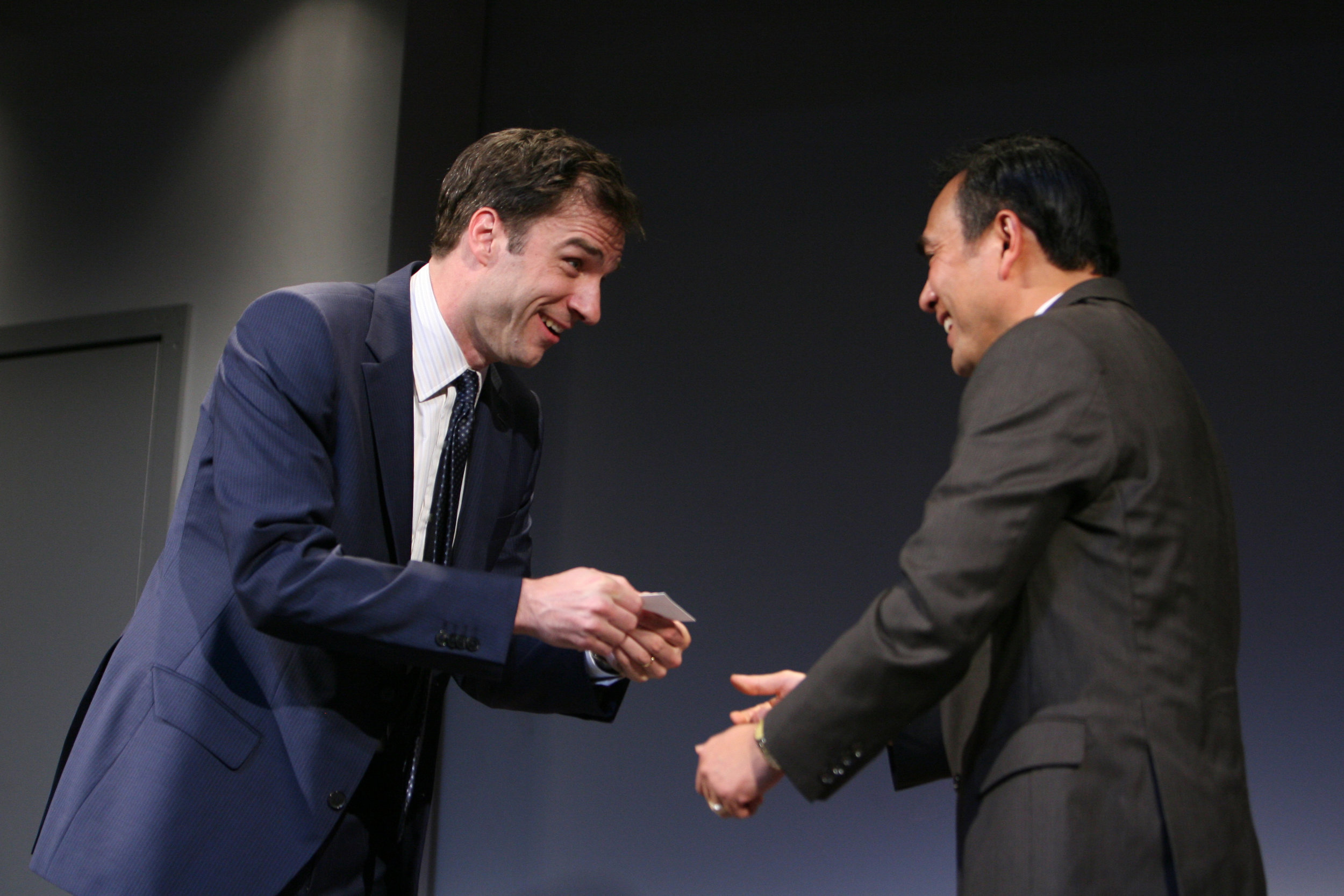 James Waterston and Larry Zhang. Photo by Eric Y. Exit for the Goodman Theatre, 2011