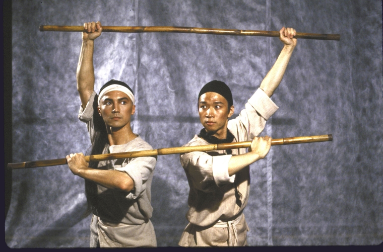 Actors (L-R) John Lone and Tzi Ma. Photo by Martha Swope  for the Public Theatre, Courtesy NYPL