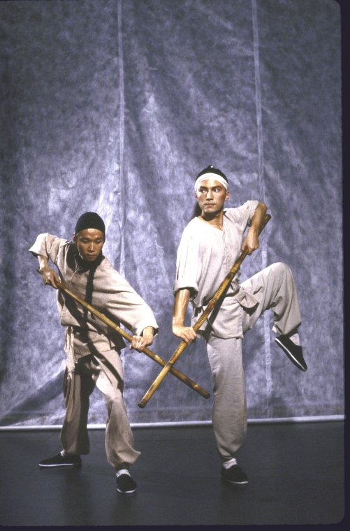 Actors (L-R) Tzi Ma and John Lone. Photo by Martha Swope  for the Public Theatre, Courtesy NYPL