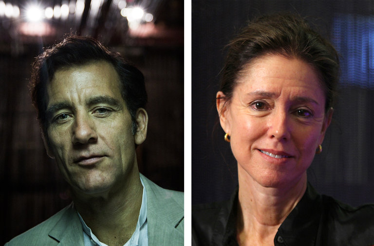 The actor Clive Owen and the director Julie Taymor. Credit: From left: Damon Winter/The New York Times; John Carucci/Associated Press Courtesy The New York Times
