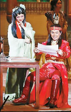 Photo of English opera Dream of the Red Chamber, Photograph by Luo Wei, Guang Ming Daily.