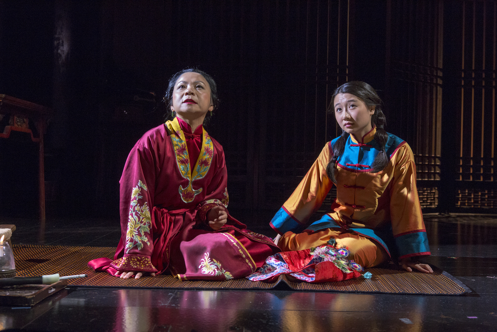 Julyana Soelistyo & Annie Q. Photo by Richard Termin, Signature Theater Production, 2012